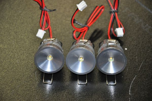 LED spots, 6 per set, incl kabel + trafo